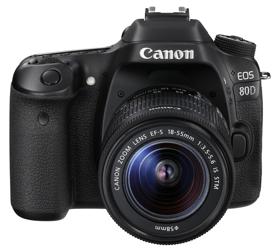 Canon EOS 80D + obiektyw 18-55 mm IS STM - cashback 430 zł