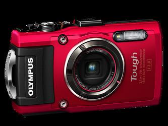 Olympus TG-4 Czerwony + karta pamięci + pasek pływający CHS-09