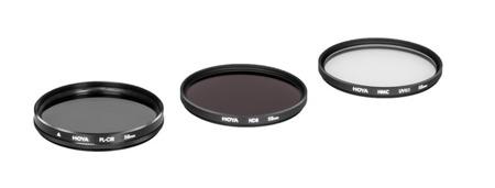 Hoya zestaw UV HMC (C), PL-CIR ,NDX8 55 mm